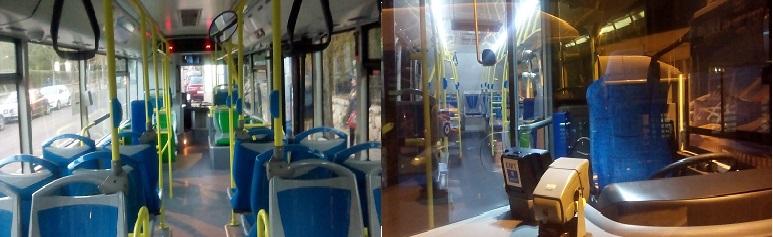bus chofer-asientos vacio